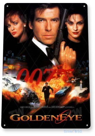 tin sign a001 007 golden eye james bond movie poster home theater tinworld tinsign_com