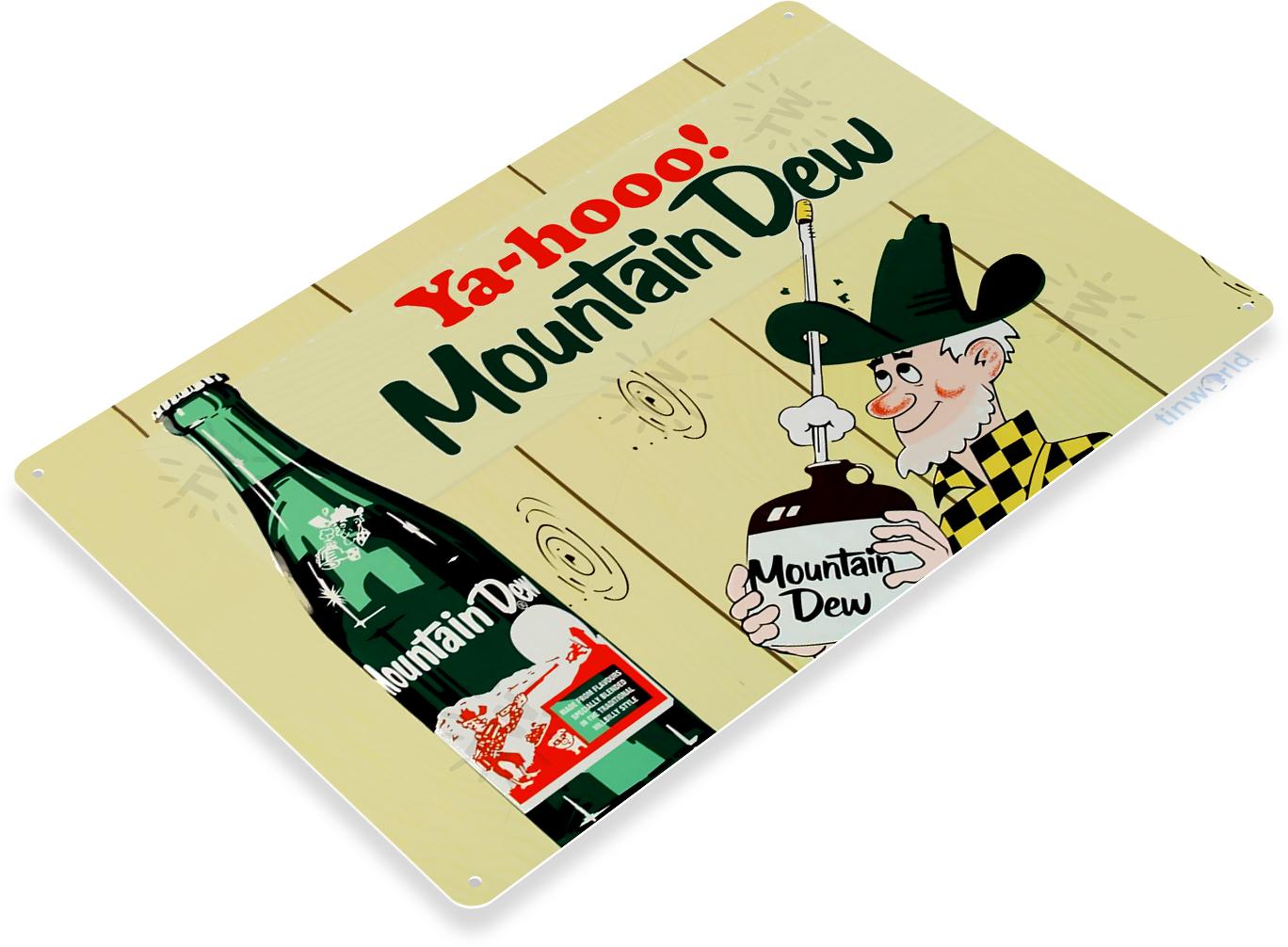 MOUNTAIN DEW Vintage-Style Menu Order Board Tin Metal Soda Sign