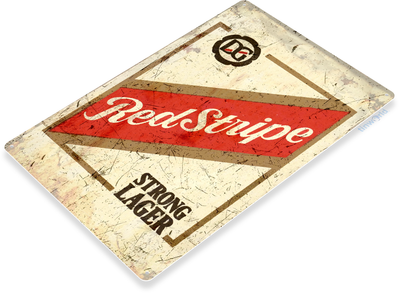 Red Stripe Beer Lot Of 2 Jamaica Country Map /& Red Stripe Bottle Tin Signs New