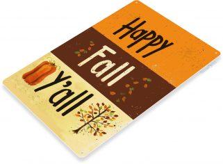 B270 Fall Decor Seasonal Rustic Halloween Thanksgiving Sign Holiday Kitchen Cottage Farmhouse Metal Tin Sign
