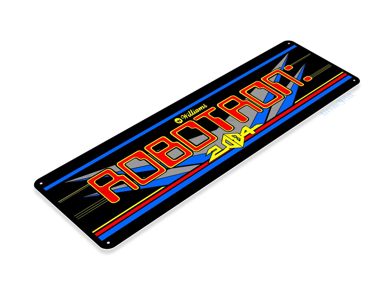 Robotron Arcade Sign C500 Tinworld Arcade Signs Tinsign Com