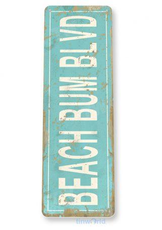 tin sign c517 beach bum blvd rustic lake beach house cottage cabin cave metal sign decor tinworld tinsign_com