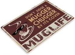 TIN SIGN C800 Mugger Chugger Coffee Sign Rustic Retro Coffee Shop Sign Kitchen Cottage Cafe Metal Sign