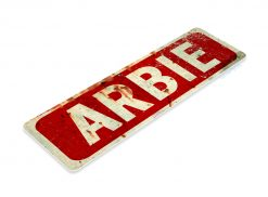 C850 Arbie Feed Sign, Retro Rustic Vintage Style Feed Seed Farm Barn Tin Metal Sign