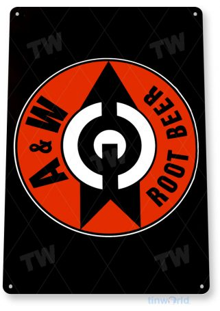 tin sign a003 a&w retro root beer sign soda cola kitchen sign kitchen shop store tinworld tinsign_com