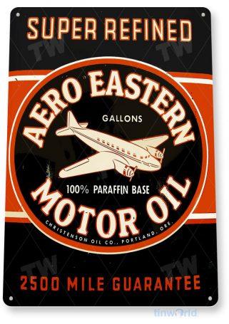 tin sign a005 aero eastern retro motor oil sign garage shop store cave tinworld tinsign_com