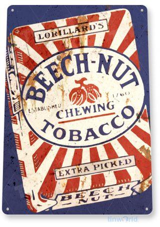 tin sign a011 beech-nut sign rust tobacco cut dip cigar rustic shop store tinworld tinsign_com