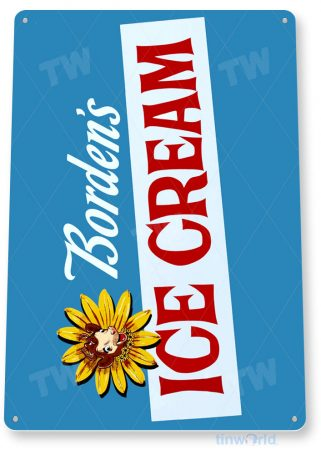 tin sign a017 borden ice cream milk retro sign kitchen farm cottage store tinworld tinsign_com