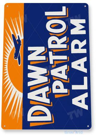 tin sign a049 dawn patrol alarm retro aviation sign garage shop store cave tinworld tinsign_com