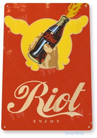 tin sign a051 dface soda riot retro sign drink coke shop store kitchen bar tinworld tinsign_com