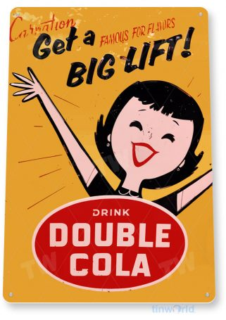 tin sign a054 double cola coke retro sign shop store kitchen cave tinworld tinsign_com