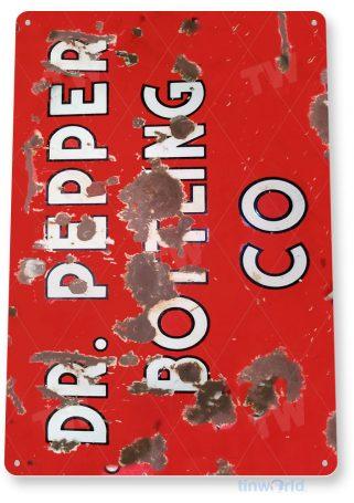 tin sign a056 dr. pepper bottling rustic rust sign cola soda bar shop store kitchen tinworld tinsign_com