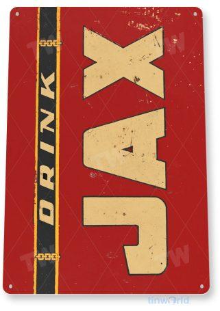 tin sign a058 drink jax rustic retro beer sign bar pub shop store cave tinworld tinsign_com