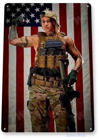 tin sign a063 american gun show flag patriotic shop garage pin-up tinworld tinsign_com