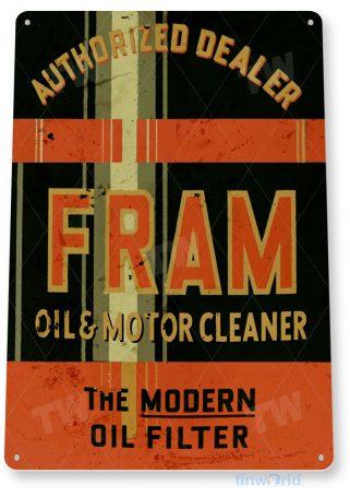 tin sign a067 fram oil filter rustic can sign gas garage auto shop tinworld tinsign_com