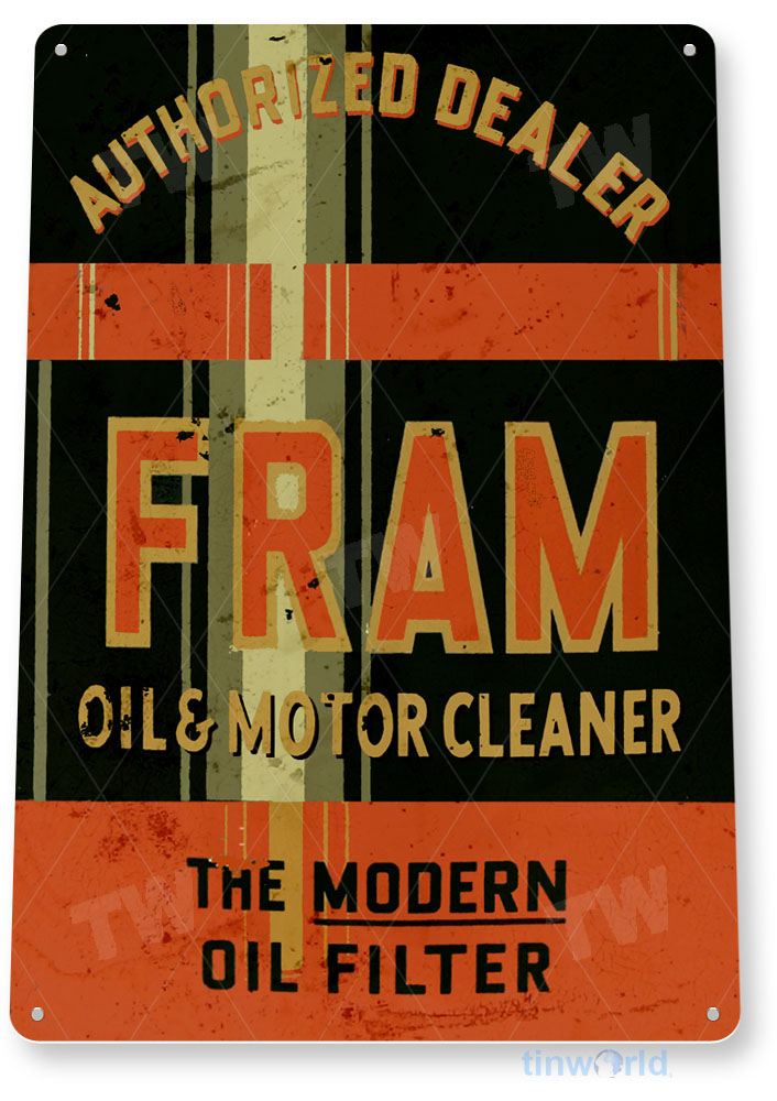 FREE shipping on any 8 signs Fram Oil Filter Sign ...Gas Oil Gasoline .