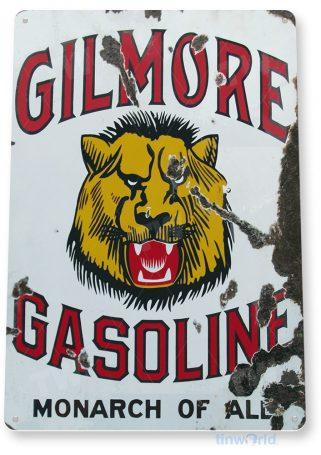 tin sign a073 gilmore gas rusty gasoline sign fuel oil garage auto shop store bar tinworld tinsign_com