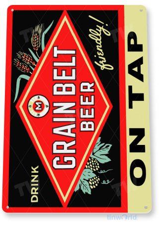 tin sign a078 grain belt beer on tap sign bar pub shop store cave tinworld tinsign_com