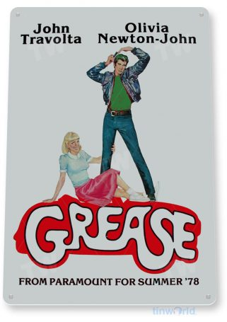 tin sign a079 grease john movie poster home theater store tinworld tinsign_com