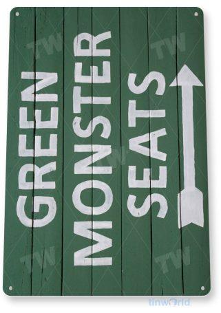 tin sign a080 green monster seats sign chicago cubs baseball shop store cave tinworld tinsign_com