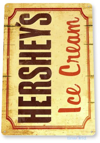 tin sign a084 rustic hershey's ice cream sign shop parlor kitchen cottage farm tinworld tinsign_com