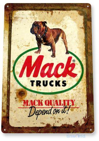 tin sign a114 mack truck rustic rust sign auto shop stop store cave garage tinworld tinsign_com