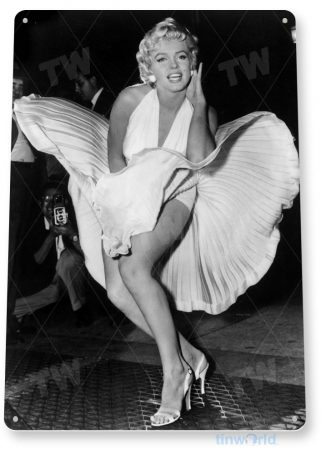 tin sign a116 marilyn monroe dress picture portrait photo tinworld tinsign_com