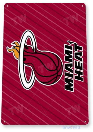 tin sign a117 miami heat basketball sports shop store cave bar tinworld tinsign_com