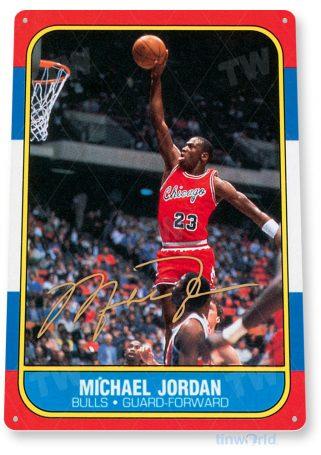 tin sign a122 michael jordan rookie basketball sports tinworld tinsign_com
