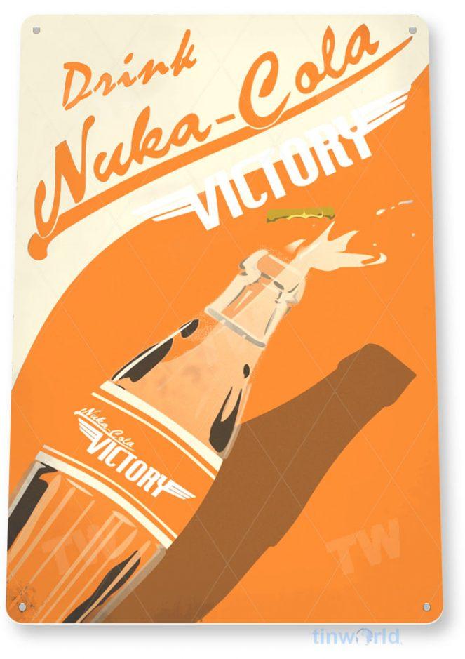 tin sign a123 nuka-cola victory soda sign bar kitchen tinworld tinsign_com