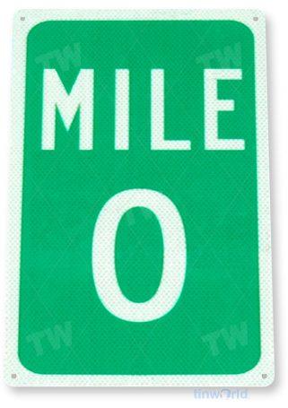 tin sign a124 mile 0 key west street sign cave shop cottage garage tinworld tinsign_com