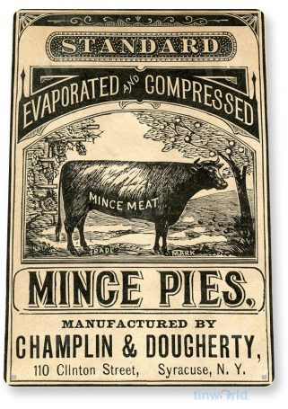 tin sign a126 mince pies kitchen cottage store shop feed farm tinworld tinsign_com