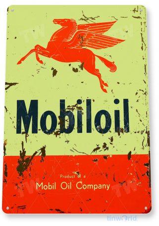 tin sign a130 mobiloil company rustic gas mobil oil sign garage shop store tinworld tinsign_com