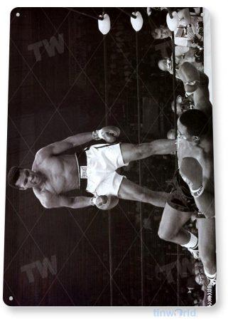tin sign a132 muhammad ali boxing ring photo tinworld tinsign_com