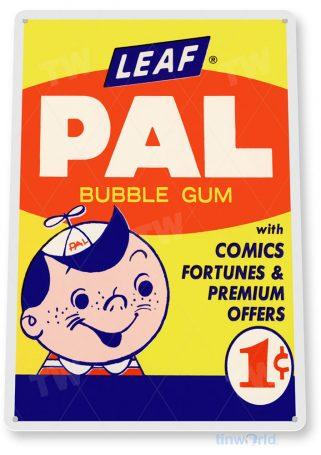tin sign a137 pal retro bubble gum sign kitchen cottage farm store tinworld tinsign_com