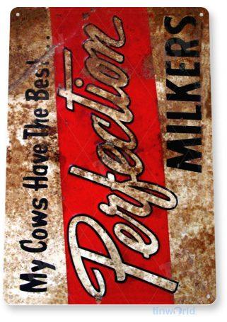 tin sign a143 perfection milk rustic farm sign tinworld tinsign_com