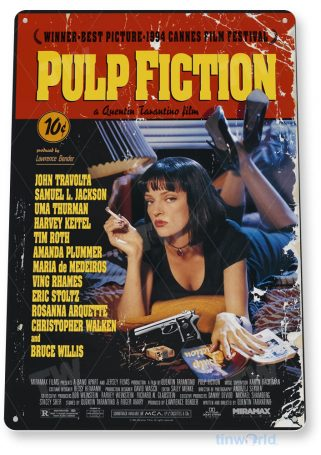 tin sign a144 pulp fiction movie poster home theater store tinworld tinsign_com