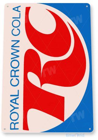tin sign a154 rc royal crown retro cola sign coke soda bar kitchen cottage cave tinworld tinsign_com