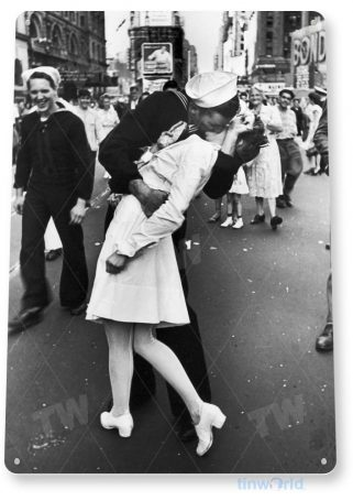 tin sign a161 sailor kiss navy times square picture portrait photo tinworld tinsign_com