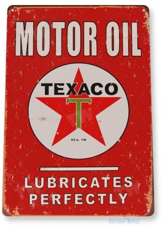 tin sign a176 texaco motor oil retro gas station sign garage cave auto shop tinworld tinsign_com