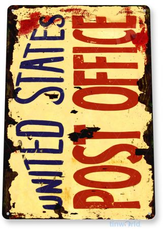 tin sign a184 united states post office rustic mail sign tinworld tinsign_com