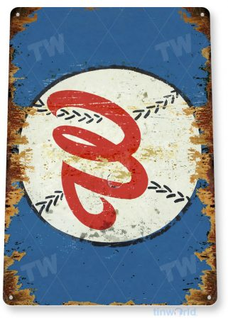 tin sign a187 washington nationals baseball rustic sports sign tinworld tinsign_com