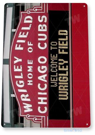 tin sign a192 wrigley field chicago cubs baseball field sign tinworld tinsign_com