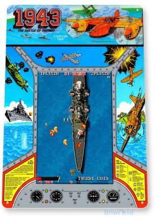tin sign a198 1943 arcade shop game room marquee retro console tinworld tinsign_com