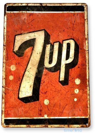 tin sign a200 7-up rustic rusty soda sign kitchen cottage cave tinworld tinsign_com