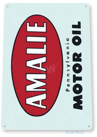 tin sign a208 amalie retro oil gas sign garage auto shop tinworld tinsign_com