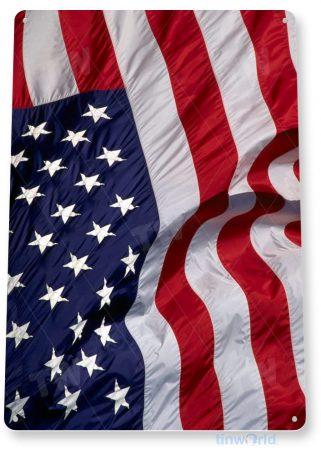 tin sign a213 american flag flag patriotic cottage garage tinworld tinsign_com