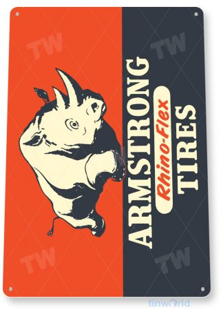 tin sign a221 armstrong tires retro sign parts service auto service shop garage tinworld tinsign_com