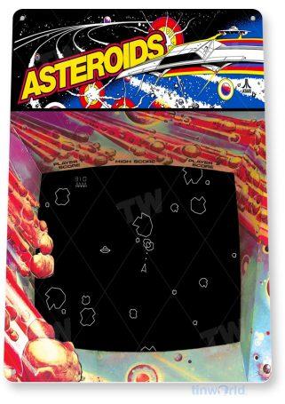 tin sign a224 asteroids arcade shop game room marquee retro console tinworld tinsign_com
