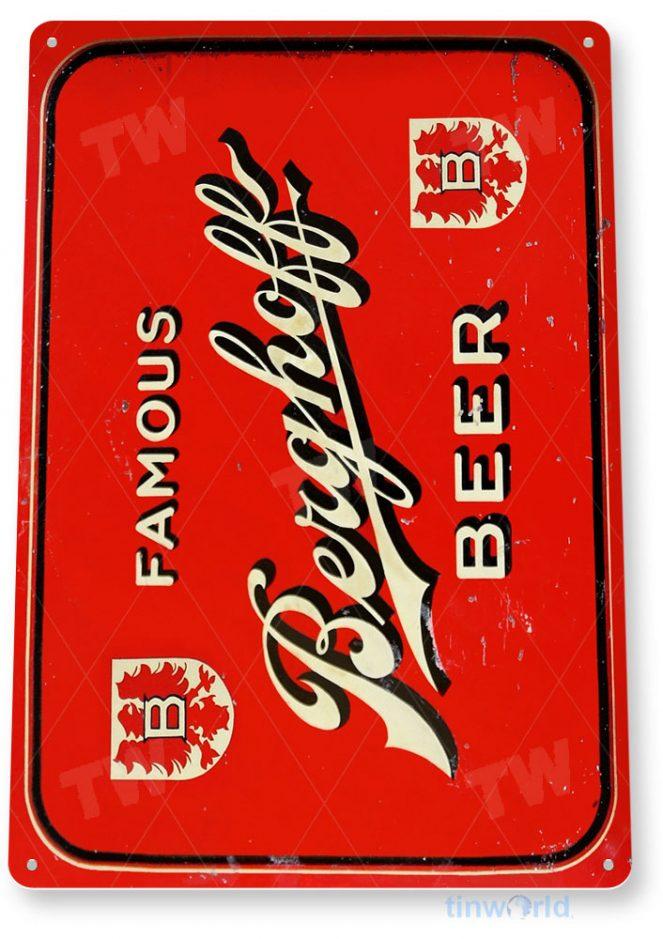 tin sign a243 berghoff beer retro rustic bar pub beer sign kitchen cottage tinworld tinsign_com